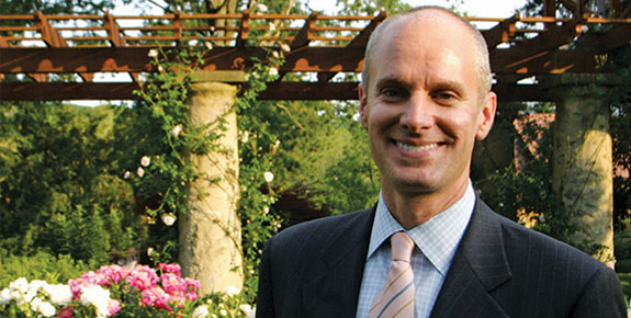 PHS President Drew Becher Visits Award Winning Landscape
