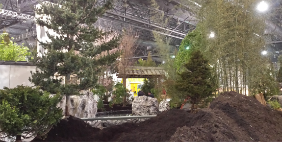 2015 Flower Show Set Up Underway!